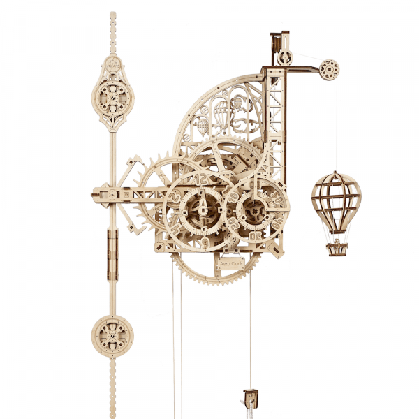 Horloge-Aéro Ugears – Puzzle 3d en bois